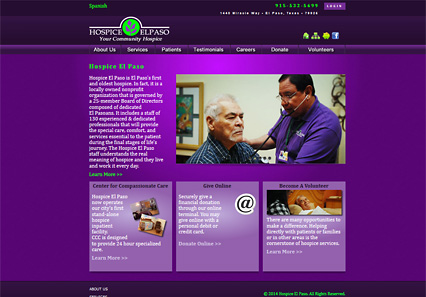 Link to Hospice El Paso site by by Riology I.T. Solutions, LLC The Ecommerce Web site speicailists