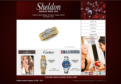 Link to Sheldon Jewelry website by Riology Web Design e-commerce websites
