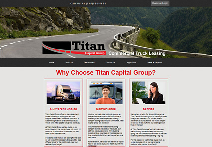 Link to Titan Capital's Website design by Web development company in El Paso - Riology I.T. Solutions, LLC